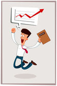 Happy businessman — Stock Vector
