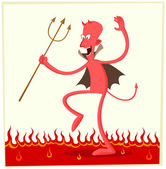 Dancing satan — Stock Vector