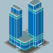 Isometric building — Stock Vector