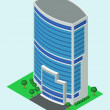 Stock Vector: Isometric building