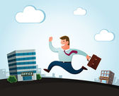Moving to the new office — Stock Vector