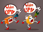 Screaming Alarm — Stock Vector