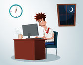 Working overtime — Stock Vector
