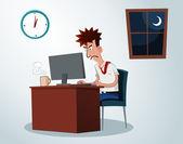 Working overtime — Stock Vector