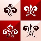 Medieval emblem ornament — Stock Vector