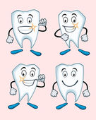 Various expressions of teeth — Stock Vector