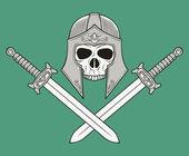 Monochrome skull illustration — Stock Vector