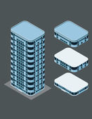 Isometric modern building — Stock Vector