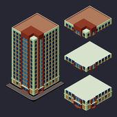 Isometric modern building — Stock Vector