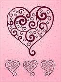 Various heart symbol — Stock Vector