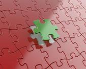 Success concept, puzzle solution concept — Stock Photo