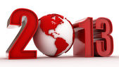High tech and technology style 2013 happy new year celebration — Stock Photo