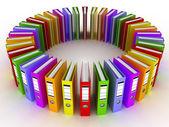 Koło kolorów foldery — Zdjęcie stockowe