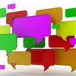 Abstract glossy speech bubbles — Stock Photo