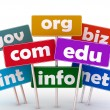 Domain names and internet concept — Stockfoto