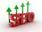 Seo - optimização do search engine com setas — Foto Stock