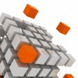 Cube assembling from blocks - Foto Stock