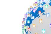 Social media network connection concept — Stock Photo