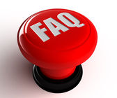 Faq round red glossy icon on white background — Stock Photo