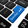 Solution button on laptop keyboard — Stock Photo #21220839