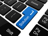 Solution button on laptop keyboard — Stock Photo