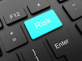 Risk button on the keyboard — Stock Photo