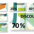 Abstract discount cards. — 图库矢量图片