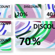 Abstract discount cards. — Imagen vectorial