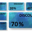 Royalty-Free Stock Imagem Vetorial: Abstract discount cards
