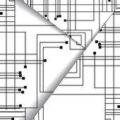 Circuit board illustration. — Stock Vector