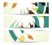 Banner abstracta para su diseño, ilustración digital colorido. — Vector de stock
