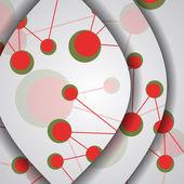 Illustration colorée d'adn, composition numérique. — Vecteur
