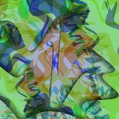 Fond coloré de zigzag — Vecteur