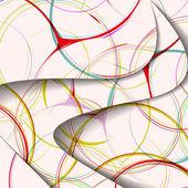 Illustration abstraite, tourbillon coloré composition. — Vecteur