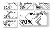 Circuit board discount cards — Cтоковый вектор
