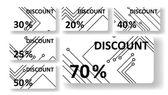 电路板折扣卡 — 图库矢量图片