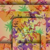 Färgrik sicksack bakgrund. — Stockvektor