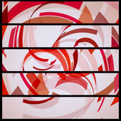 абстрактный баннер для вашего дизайна — Cтоковый вектор