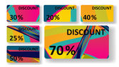 Retro discount cards — Stock Vector