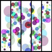 Ilustración de círculos abstractos — Vector de stock