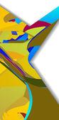 Retro abstract illustration — Stock Vector