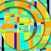 Streszczenie ilustracja kolorowy — Wektor stockowy