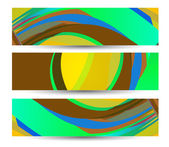 Retro abstract banner for your design — Stock Vector