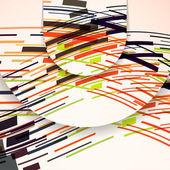 Illustration de la composition abstraite — Vecteur