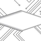 Circuit board illustration — Stock Vector