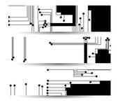 Platine banner für ihr design — Stockvektor