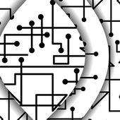 Devre levhasını banner tasarımınız için — Stok Vektör