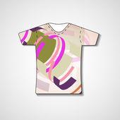 Illustration abstraite sur t-shirt — Vecteur