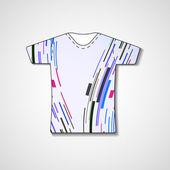 Ilustração abstrata na t-shirt — Vetor de Stock