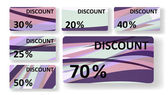 Abstract discount cards — Stock Vector